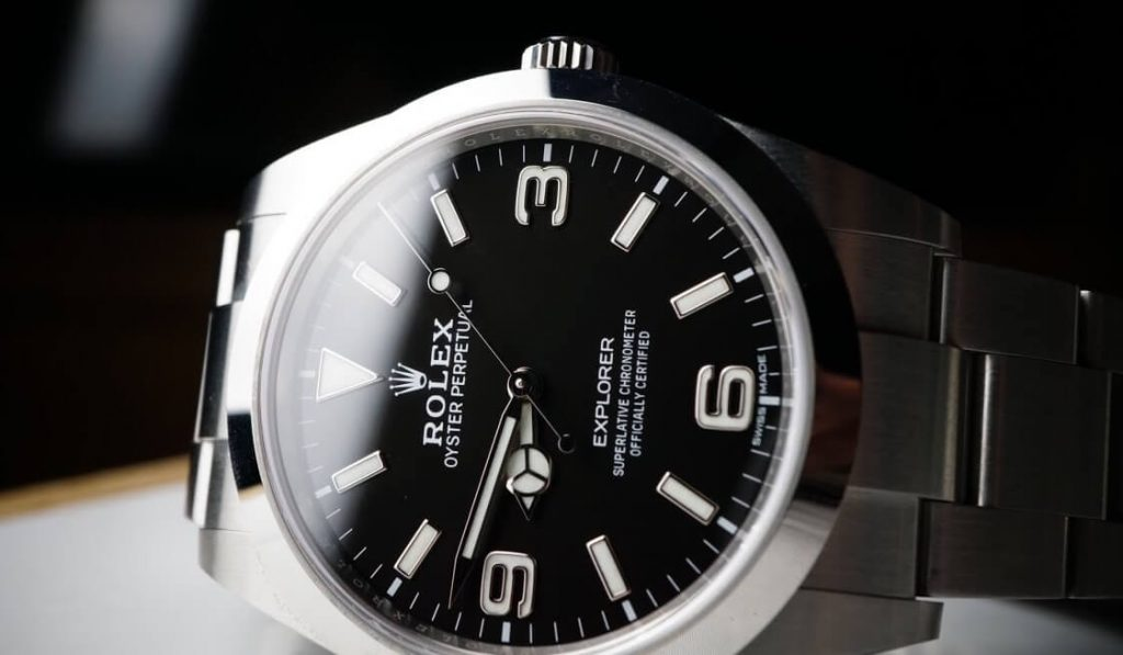 imitation Rolex Explorer 214270 black dial